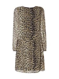 Brązowa sukienka Jake*s Collection w street stylu z okrągłym dekoltem z długim rękawem