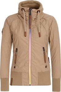 Brązowa kurtka Naketano krótka w stylu casual