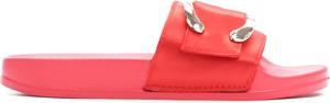 Różowe klapki Multu w stylu casual