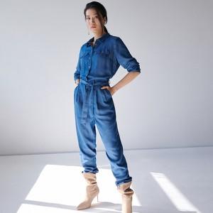Niebieski kombinezon Mohito z jeansu