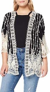 amazon.de New Look Curves Kat Crochet Kimono kurtka damska - kurtka