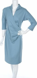 Niebieska sukienka Winser London z długim rękawem midi