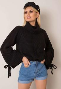 Czarny sweter Sheandher.pl w stylu casual