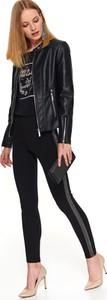 Czarne legginsy Top Secret z dzianiny w stylu casual