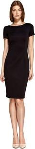 Czarna sukienka Colett z krótkim rękawem