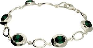 Polcarat Design Bransoletka srebrna z kryształami Swarovskiego L 1860 : Kolor - Emerald