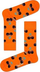 Pomarańczowe skarpetki Happy Socks