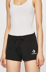 Czarne szorty Converse w sportowym stylu z bawełny