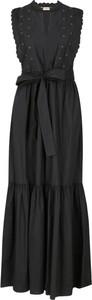 Czarna sukienka Twinset bez rękawów maxi