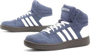 Niebieskie buty sportowe Adidas z zamszu