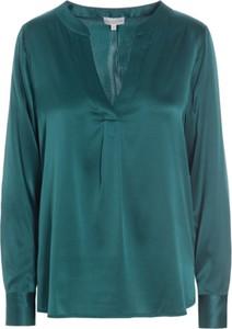 Zielona bluzka Dea Kudibal z długim rękawem z tkaniny