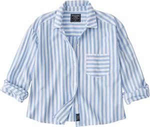 Koszula Abercrombie & Fitch z kołnierzykiem z bawełny