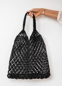 Czarna torebka DeeZee średnia w stylu glamour