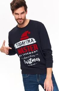 Granatowa bluza Top Secret w młodzieżowym stylu