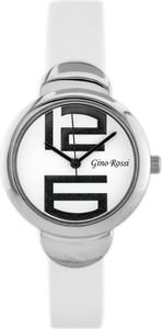 ZEGAREK GINO ROSSI - 8311A (zg502e) white/silver + BOX