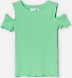 Zielona koszulka dziecięca Reserved z bawełny