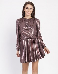 Sukienka Milena Płatek z długim rękawem mini