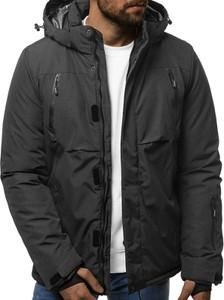 Czarna kurtka Ozonee krótka w stylu casual