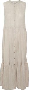 Sukienka Kaffe bez rękawów z okrągłym dekoltem maxi