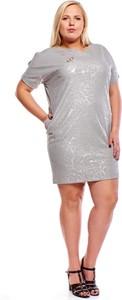 Sukienka Fokus z okrągłym dekoltem dla puszystych