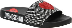 Klapki Love Moschino w stylu casual z nadrukiem