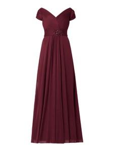 Czerwona sukienka Luxuar z krótkim rękawem
