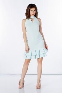 Miętowa sukienka A&P By Ryłko z bawełny
