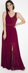 Czerwona sukienka Marcelini asymetryczna