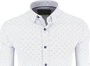 Koszula Megafinest w stylu casual z kołnierzykiem button down z długim rękawem