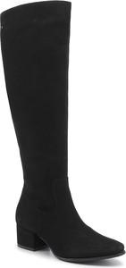 Czarne kozaki Ann-Mex przed kolano
