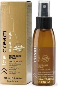 Inebrya, Ice Cream, Argan-Age Frizz-Free, spray zapobiegający puszeniu się włosów, 100 ml