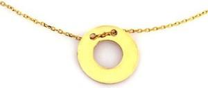 Lovrin Złoty naszyjnik 585 zawieszka koło ring 1,24 g