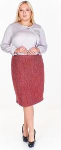 Czerwona spódnica Fokus z szyfonu midi