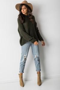 Zielony sweter Fashion Manufacturer z moheru w stylu casual