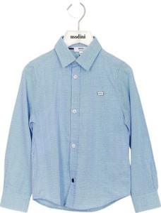 Niebieska koszula dziecięca Hugo Boss dla chłopców