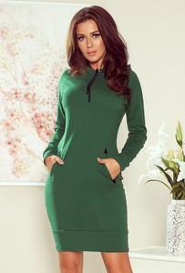 Zielona sukienka NUMOCO z bawełny