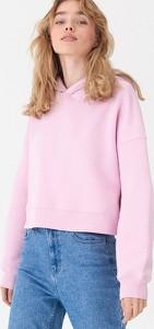 Różowa bluza House w młodzieżowym stylu krótka