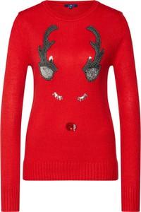 Czerwony sweter Tom Tailor w stylu casual