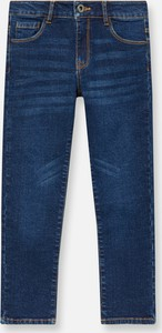 Granatowe jeansy dziecięce Sinsay