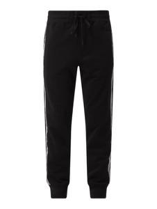Czarne spodnie Versace Jeans w sportowym stylu