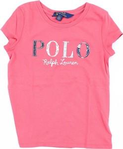 Bluzka dziecięca POLO RALPH LAUREN z bawełny z krótkim rękawem dla dziewczynek