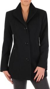 Granatowy płaszcz POLSKA z wełny