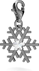 GIORRE SREBRNY CHARMS ŚNIEŻYNKA SWAROVSKI 925 : Kolor pokrycia srebra - Pokrycie Czarnym Rodem