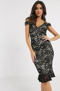 Sukienka Girl In Mind z krótkim rękawem z odkrytymi ramionami