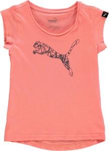 Różowa koszulka dziecięca Puma