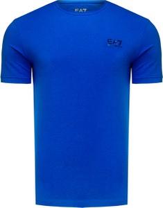 T-shirt EA7 Emporio Armani z bawełny w stylu casual z krótkim rękawem