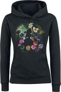 Czarna bluza Alicja W Krainie Czarów w młodzieżowym stylu z bawełny