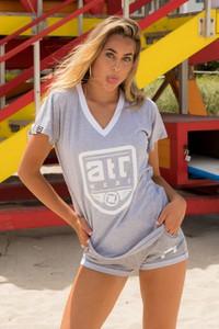 T-shirt Atr Wear z bawełny z nadrukiem z krótkim rękawem