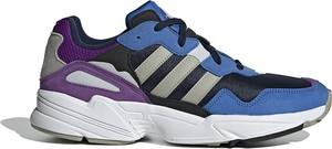 Buty sportowe Adidas z płaską podeszwą sznurowane z nubuku