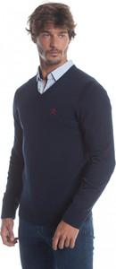 Niebieski sweter Polo Club C.h.a w stylu casual